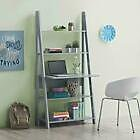 Riva Scandinavian Retro Ladder Desk Corner Black