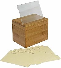 Riverry Bamboo Bread Box Bin with Natural Wooden