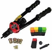 Rivet Gun Nut Tool Kit Hand Blind Riveter Hand