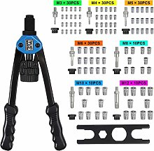 Riveter Rivet Nut Gun, Riveting Repair Tool Kit