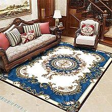 RJIANRA Rugs Living Room Large Blue European 3D