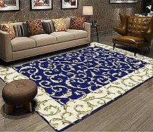 RJIANRA Rugs Living Room Large Blue Vine 3D Heavy