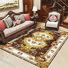 RJIANRA Rugs Living Room Large Brown Yellow 3D