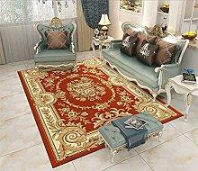 RJIANRA Rugs Living Room Large European Orange 3D