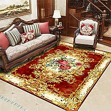 RJIANRA Rugs Living Room Large Flower Red 3D Heavy