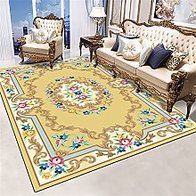 RJIANRA Rugs Living Room Large Flower Yellow 3D