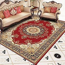 RJIANRA Rugs Living Room Large Flowers Red Blue 3D