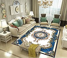 RJIANRA Rugs Living Room Large Nordic Blue 3D