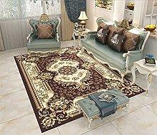 RJIANRA Rugs Living Room Large Nordic Brown 3D
