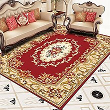 RJIANRA Rugs Living Room Large Nordic Red 3D Heavy