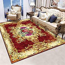 RJIANRA Rugs Living Room Large Red Flowers 3D