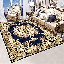 RJIANRA Rugs Living Room Large Vine Blue 3D Heavy