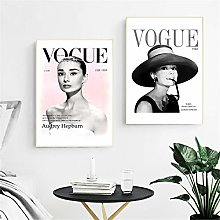 Rjjwai Audrey Hepburn Fashion Canvas Posters and