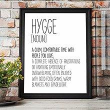 Rjjwai Hygge Sign Wall Art Funny Definition Poster