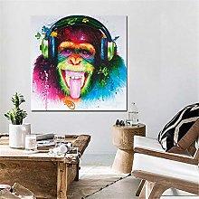Rjjwai Modern Funny Music Monkey with Headphone