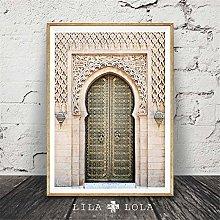 Rjjwai Moroccan Portal Gray Wooden Door Home