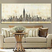 Rjjwai Print Abstract New York Manhanta Skyline