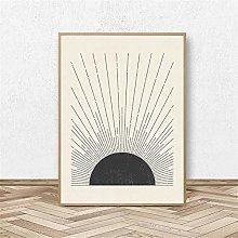 Rjjwai Sun Illustration Mid Century Modern Block