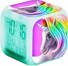 RJMAC Digital Alarm Clock, 7 Colors Wake Up Clock