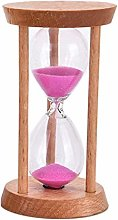 RJPL Crystal Hourglass Bamboo Timer,Colored Sand