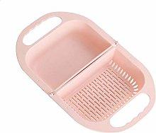 RJPL Folding Drain Basket,Multifunctional Washing
