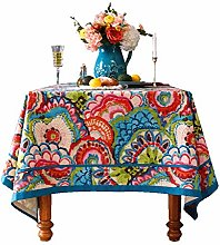 RKL European Style Tablecloth, Cotton and Linen