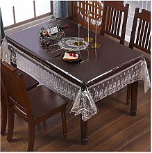 RKL Transparent PVC Tablecloth, Waterproof and