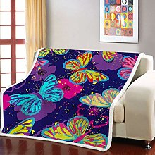 RKZM Watercolor Butterfly 3D Print Baby Bedding