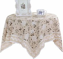 Rlmobes Pastoral Floral Tablecloth Square Table
