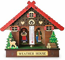 Rlorie Wood Weather House, Thermometer And