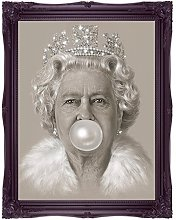 RMBoutique Queen Elizabeth II Bubblegum Art Print