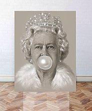 RMBoutique Queen Elizabeth II Bubblegum Canvas Art