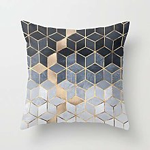 RNXRBB Marbled Geometric Scenery Cushion Cover