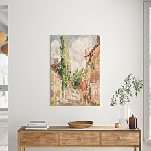 Road in a Village - Painting Print Lily Manor