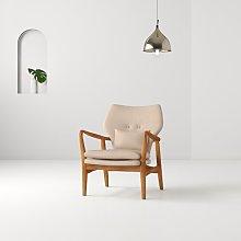 Rob Armchair Hashtag Home Upholstery Colour: Beige
