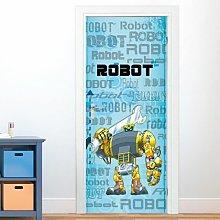 Robot Door Sticker East Urban Home