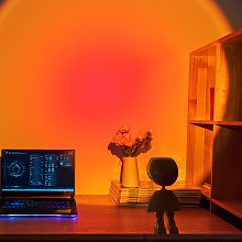 Robot LED Projector Night Light, Rechargeable