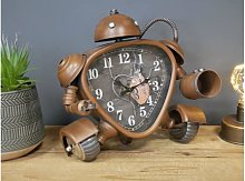 Robot Style Childs Desk Bedside Clock