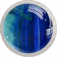 Robots 4 Pack Glass Drawer Knobs- Round Shape