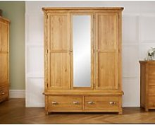 Robyn Oak 3 Door 2 Drawer Wardrobe