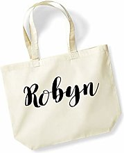 Robyn Personalised Shopping Tote in Natural Colour