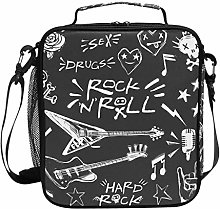Rock 'N' Roll Music Lunch Bag Insulated