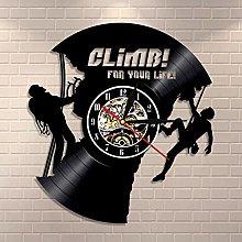 Rock Climbing Vinyl Record Clock For Climbing