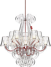 RockCoco Chandelier by Fatboy Red,Transparent