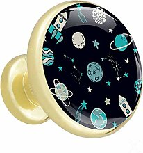 Rocket Star Space Cabinet knobs Gold knobs for