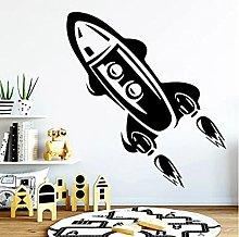 Rocket Vinyl Wall Sticker Spacecraft Decal Kids