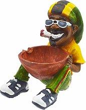 Rockin Gear Rasta Figurine Ashtray - Jamaican Man
