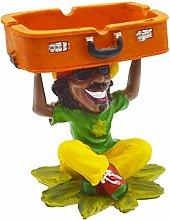 Rockin Rasta Figurine Ashtray - Jamaican Man