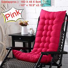 Rocking Chair Soft Warm Thick Cushion 160x48cm pink