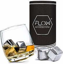 Rocking Whiskey Glass & Steel Whisky Stones Set -